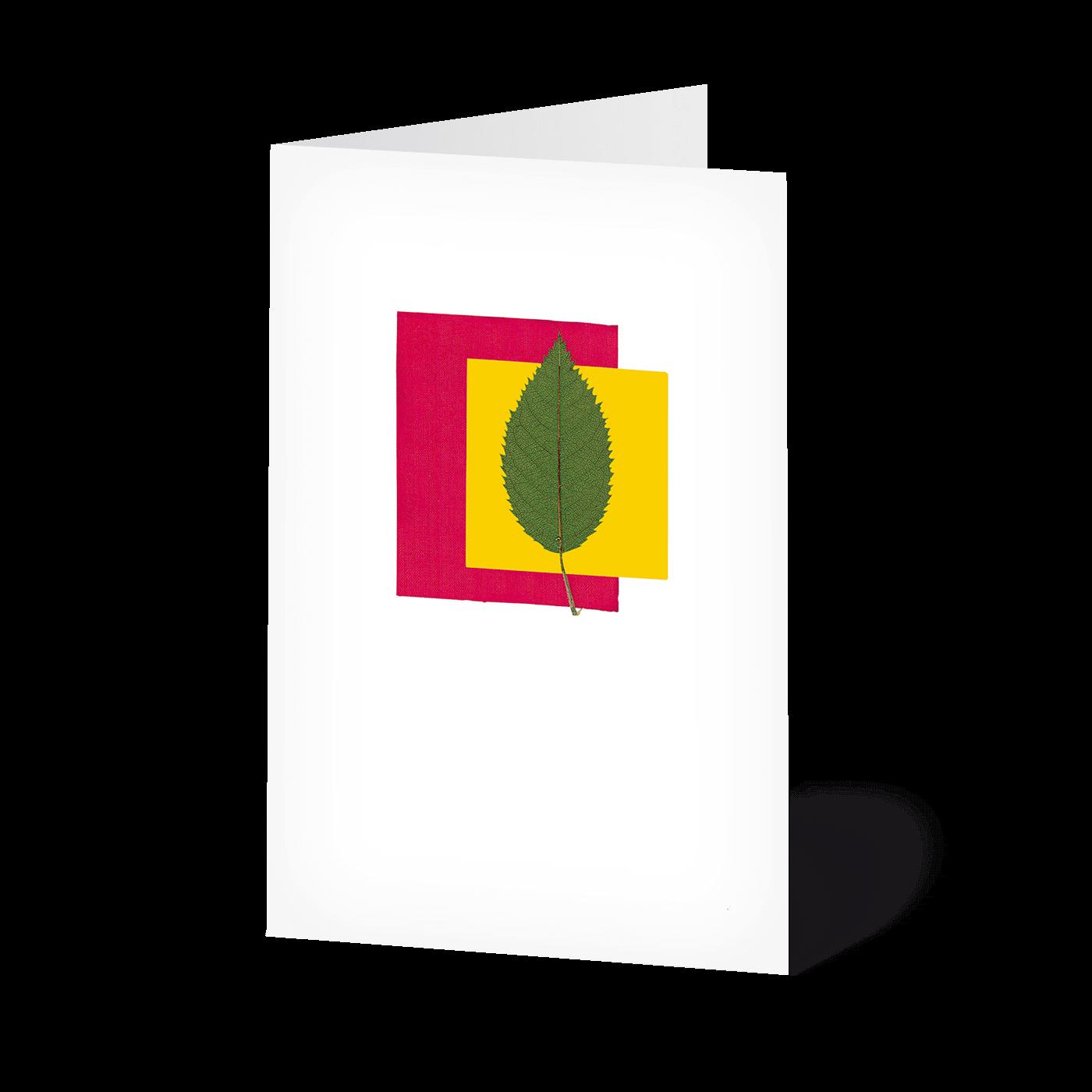 Minikarten Blätterkunst