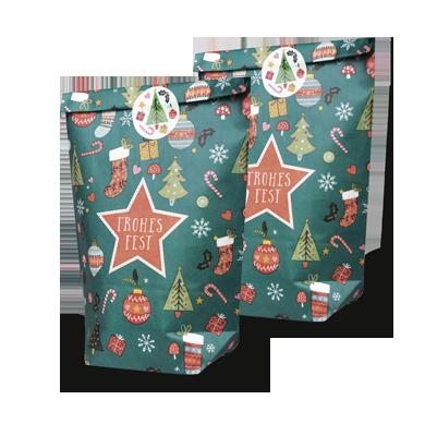 Weihnachtliche Geschenktütchen