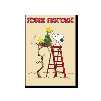 Postkarten Weihnachten mit den Peanuts